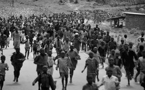 Mass exodus from Kigali in 1994
